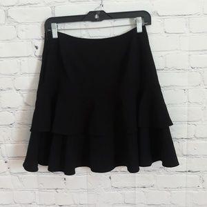 Pantology Sz: 6 Tiered Black Skirt